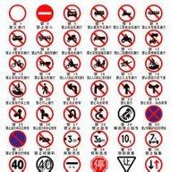 道路交通标志牌 红色禁止