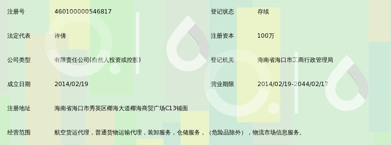 海南兴快达航空货运服务有限公司_360百科