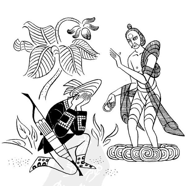 傣族姑娘手繪圖