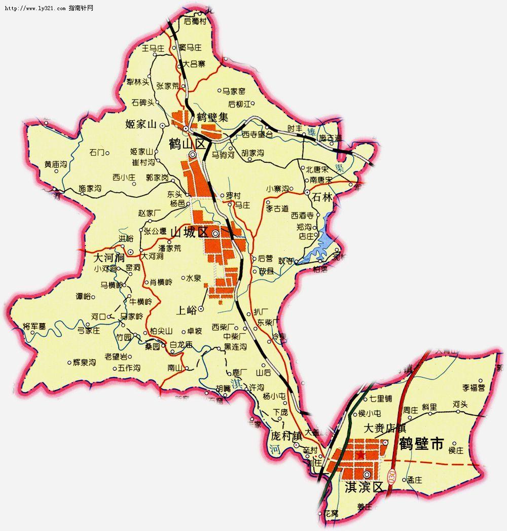 鹤壁六区到渤海路地图