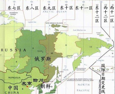 中俄朝三国边界地图