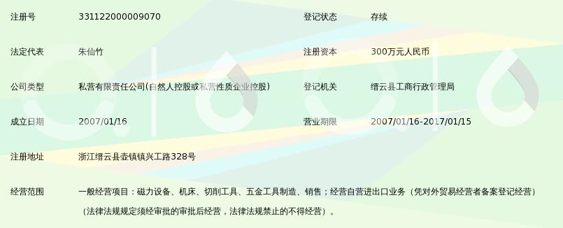 浙江开鑫磁力机械有限公司_360百科