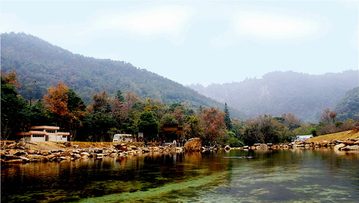 园内四季景色迷人,鸟语花香.
