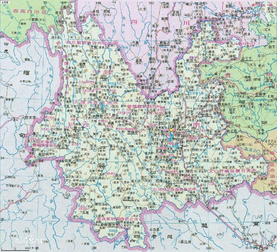 云南省地圖