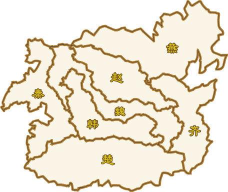战国临淄手绘矢量图
