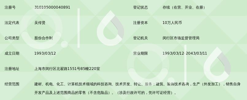 上海华普科技合作公司
