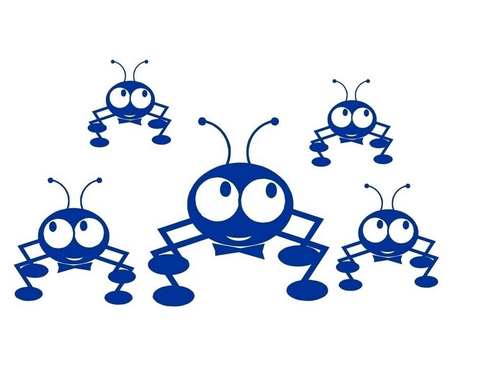 卡通蚂蚁矢量图