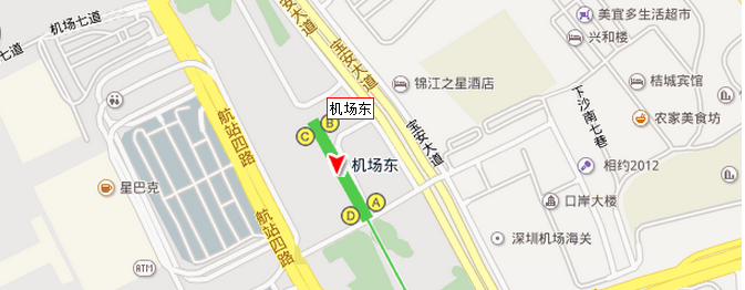 机场东站高清地图