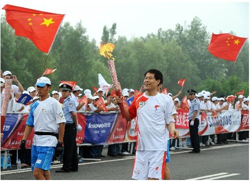 沈阳,2008年7月17日(奥运圣火)(30)奥运圣火在沈阳传递7月17日,火炬