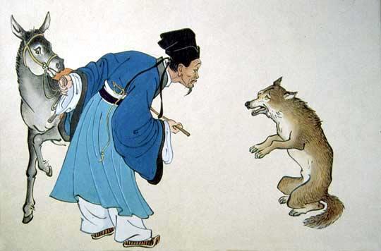 狼和蛇在一起的图片
